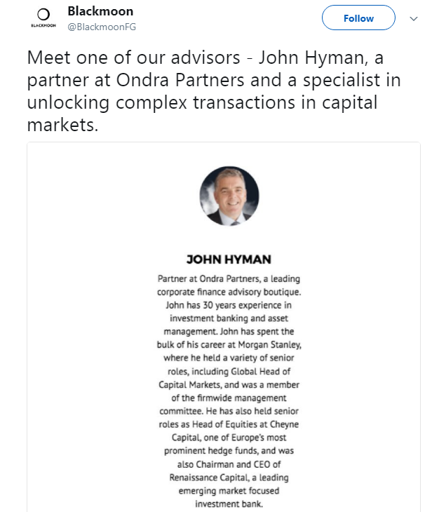 Telegram Chief Investment Adviser