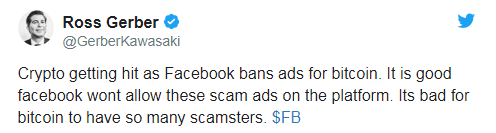 crypto advertising sa facebook